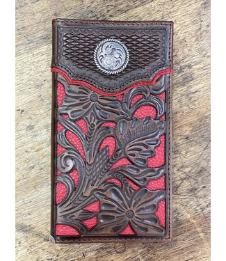 Nocona Nocona Rodeo Red Floral Wallet