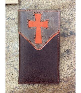 M&F Western Kids Orange Cross Wallet