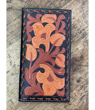 M&F Western Rodeo Wallet Tan Balck Floral Inlay