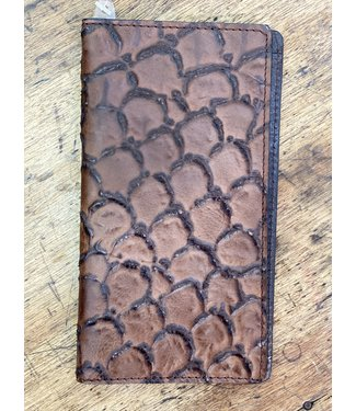 M&F Western Brown Big Bass Print Rodeo Wallet