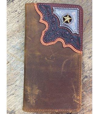 Cowboy Way Checkbook Wallet; Size : Bark