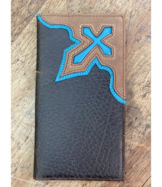 Nocona Rodeo Wallet Blue Cross Inlay