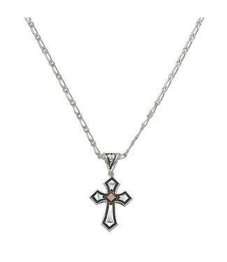 Antique Silver Copper Cross