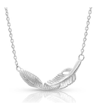 Turning Feather Necklace NC4493