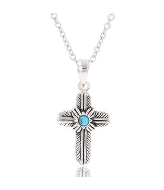 Feathered Cross Necklace