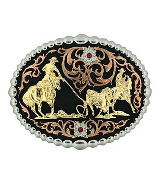 Tri Color Team Roper Buckle