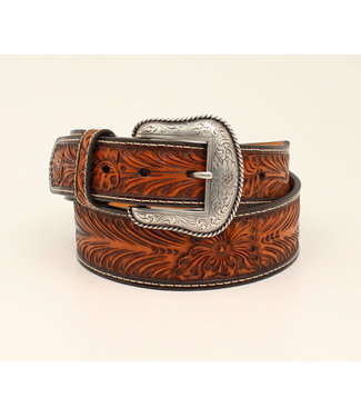 M&F Western Chocolate Floral Tooled with Cactus Concho