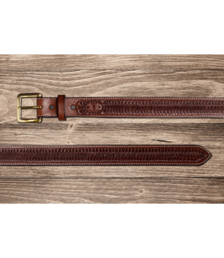 Texas Saddlery Chocolate Swirl Belt