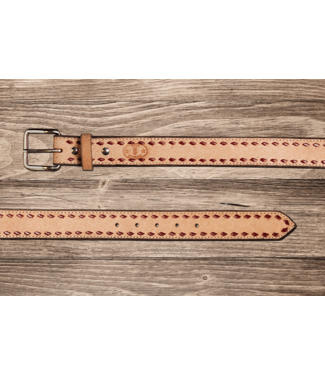 Texas Saddlery Roughout Buckstitch Belt
