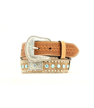 Nocona Kids Blue Stone & Bars Hair On Belt