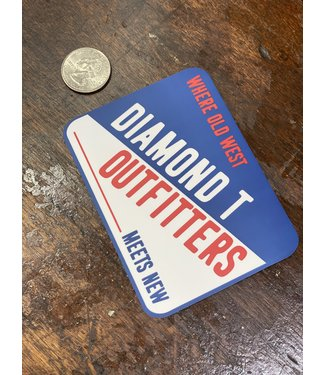 Diamond T Outfitters Old West DTO Decal