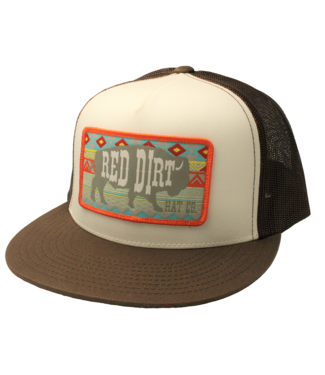 Red Dirt Hat Co Aztec Brown White Bison Red Dirt Cap