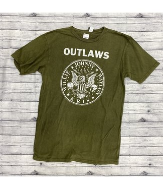 Country Deep Outlaws Tee Olive