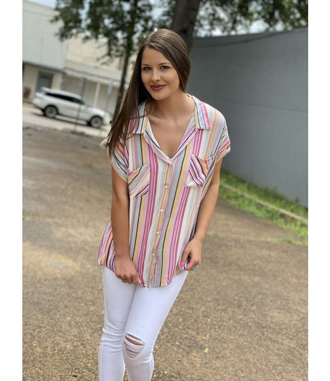 Diamond T Outfitters Summer Stripes Top