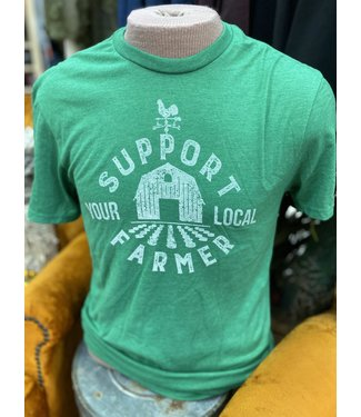 Mason Jar Label Support Your Local Farmer Tee