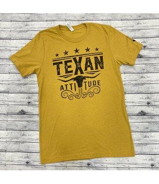 Mason Jar Label Texan Attitude Tee