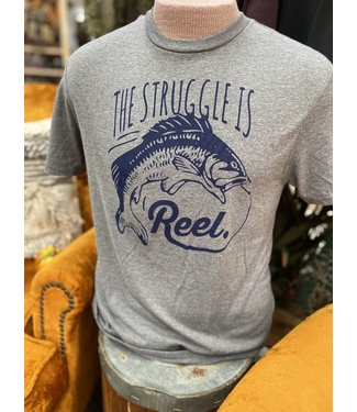 Mason Jar Label The Struggle is Reel Tee