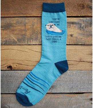 Mason Jar Label Otter/Dam Socks