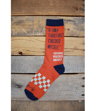 Mason Jar Label Checked myself socks