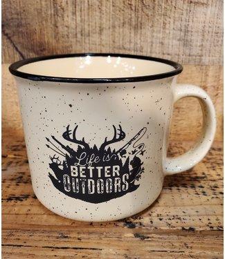 Mason Jar Label Better Outdoors Mug