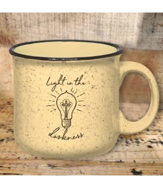 Mason Jar Label Light In The Darkness Mug