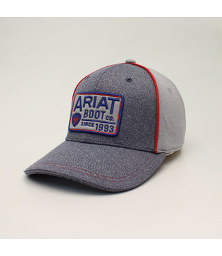 M&F Western Ariat Heather Grey Patch Cap