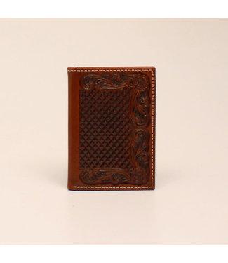 M&F Western Ariat Trifold Basketweave Wallet
