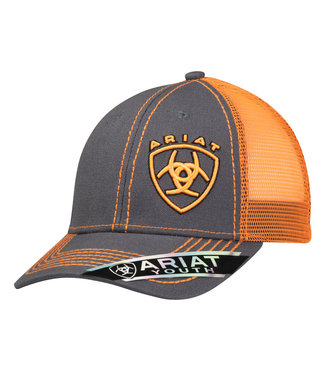 M&F Western Ariat Youth Orange Shield Cap