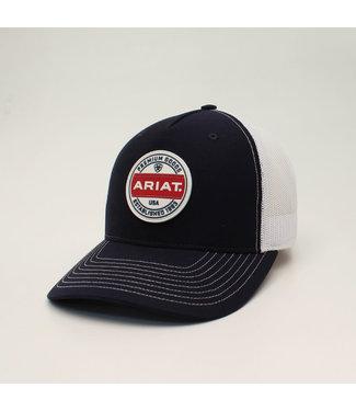 M&F Western Ariat Black Logo Patch cap