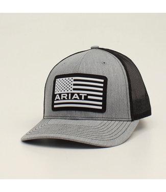 M&F Western Ariat Grey Cap Flag Patch Cap