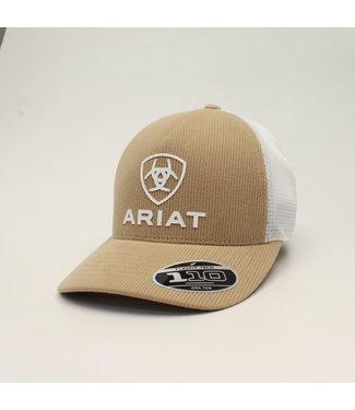M&F Western Ariat Shield Logo on Tan Cord Cap