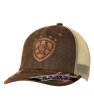 M&F Western Ariat Youth Brown Voilskin Cap