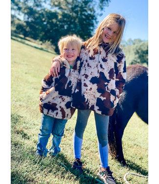 Diamond T Outfitters Little Bucker Cow Print Sherpa