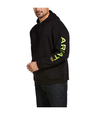 Ariat Intl Rebar Graphic Hoodie Black/Lime