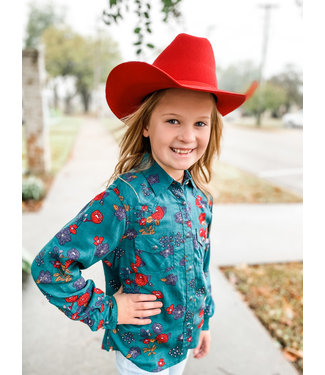 M&F Western Youth Red Cowboy Hat