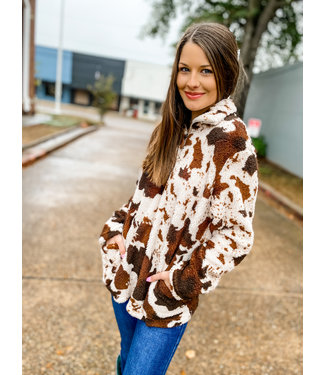 Diamond T Outfitters Big Bucker Cow Print Sherpa