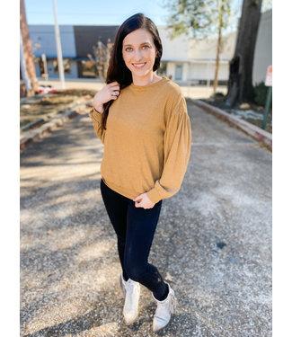 polagram Puffed Up Mustard Sweater