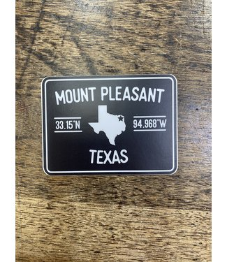stickers NW Mount PLeasant Lat Lo Decal