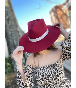 M&F Western The Twister Red Pinch Front Hat