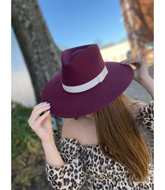 M&F Western The Twister Burgundy Pinch Front Hat