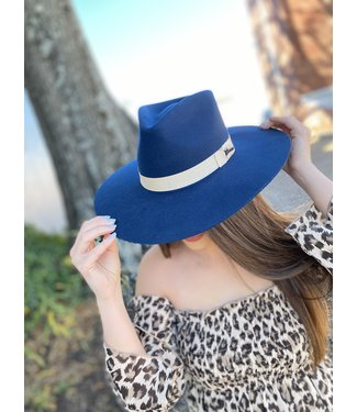 M&F Western The Twister Navy Pinch Front Hat