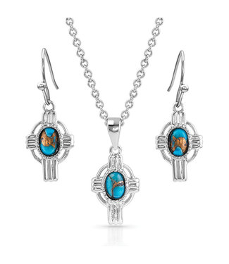 Easter Cross Turquoise Jewelry Set
