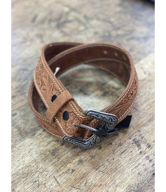 danbury Brown Tooled Belt 9543500
