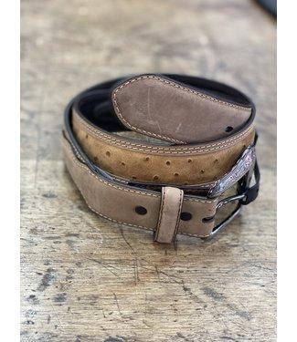 danbury Brown/Tan Ostrich Print Belt