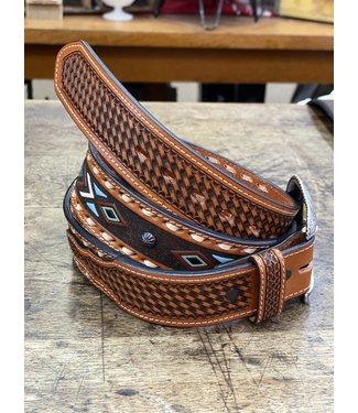 danbury Aztec Leather 8639500 Belt