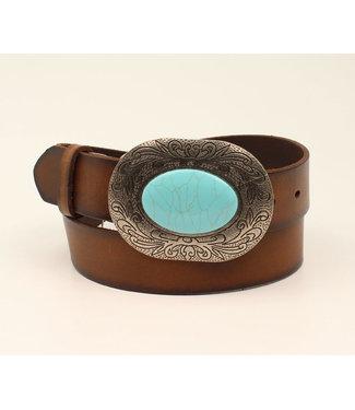 M&F Western Ladies Turquoise Stone Belt