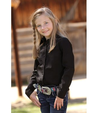 Cinch Girls Black Button Up CTW6640002