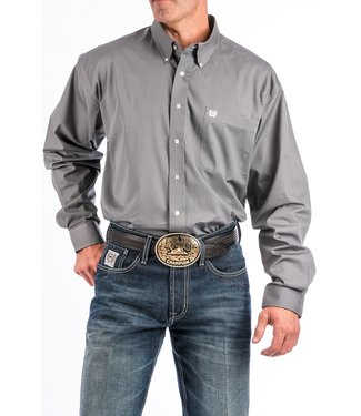 Cinch Cinch Pinpoint Grey Shirt MTW1104238