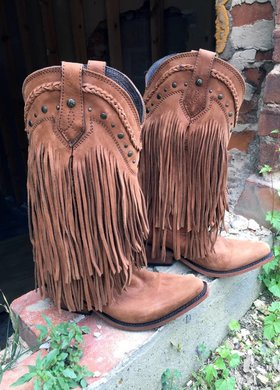 Liberty Black Liberty Black Brown Fringe Boot