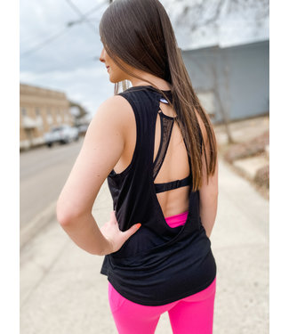 MONO B Overlay Back Tank Top